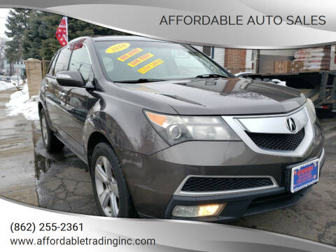2010 Acura MDX for sale at Affordable Auto Sales in Irvington NJ