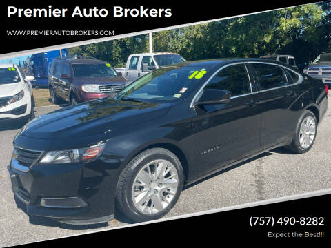 2018 Chevrolet Impala for sale at Premier Auto Brokers in Virginia Beach VA