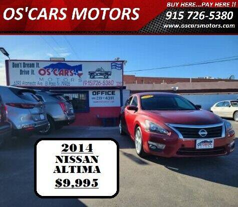 2014 Nissan Altima for sale at Os'Cars Motors in El Paso TX