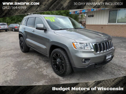 2012 Jeep Grand Cherokee for sale at Budget Motors of Wisconsin in Racine WI