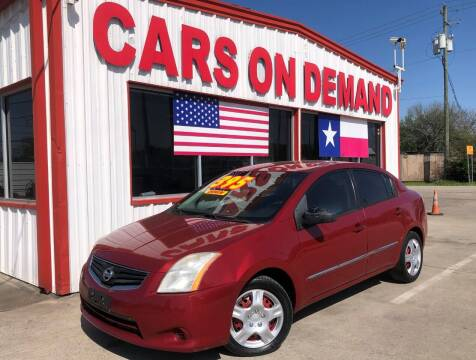 2010 Nissan Sentra for sale at Cars On Demand 3 in Pasadena TX