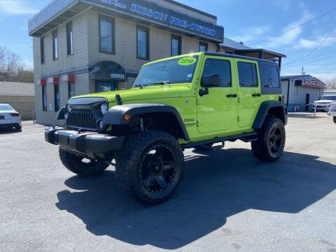 2016 Jeep Wrangler Unlimited for sale at Sisson Pre-Owned in Uniontown PA