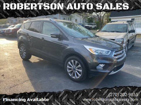 2017 Ford Escape for sale at ROBERTSON AUTO SALES in Bowling Green KY