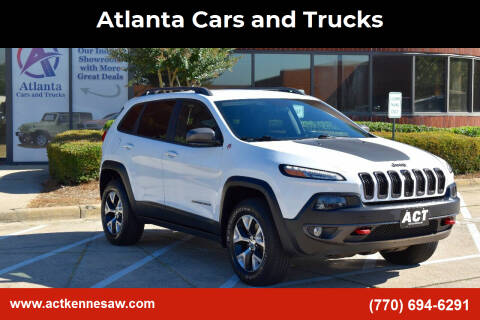 2014 Jeep Cherokee for sale at Atlanta Cars and Trucks in Kennesaw GA