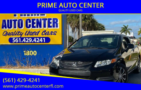 2012 Honda Civic for sale at PRIME AUTO CENTER in Palm Springs FL