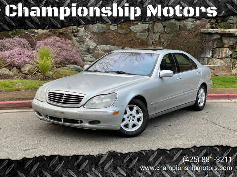 2002 Mercedes-Benz S-Class for sale at Championship Motors in Redmond WA