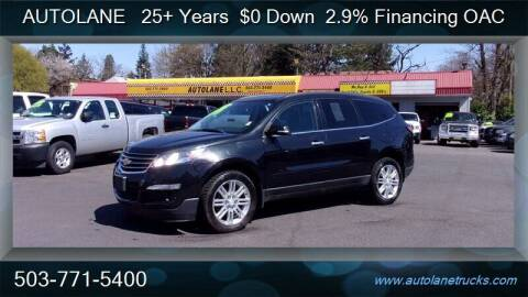 2014 Chevrolet Traverse for sale at Auto Lane in Portland OR