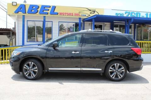 2018 Nissan Pathfinder for sale at Abel Motors, Inc. in Conroe TX