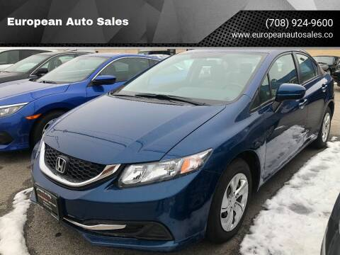 2015 Honda Civic for sale at European Auto Sales in Bridgeview IL