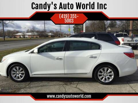 2012 Buick LaCrosse for sale at Candy's Auto World Inc in Toledo OH