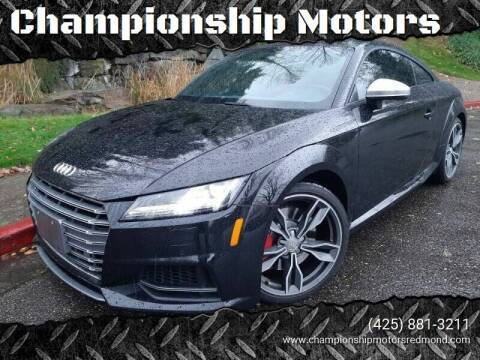 2016 Audi TTS for sale at Mudarri Motorsports - Championship Motors in Redmond WA