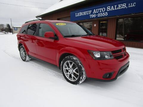 2014 Dodge Journey for sale at LeBoeuf Auto Sales in Waterford PA