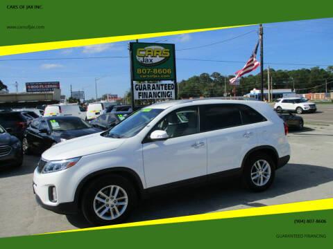 2014 Kia Sorento for sale at CARS OF JAX INC. in Jacksonville FL