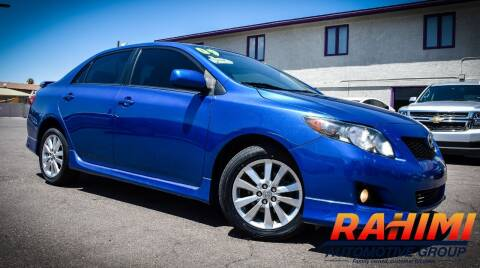 2009 Toyota Corolla for sale at Rahimi Automotive Group in Yuma AZ