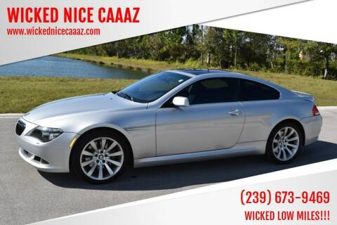 2008 BMW 6 Series for sale at WICKED NICE CAAAZ in Cape Coral FL