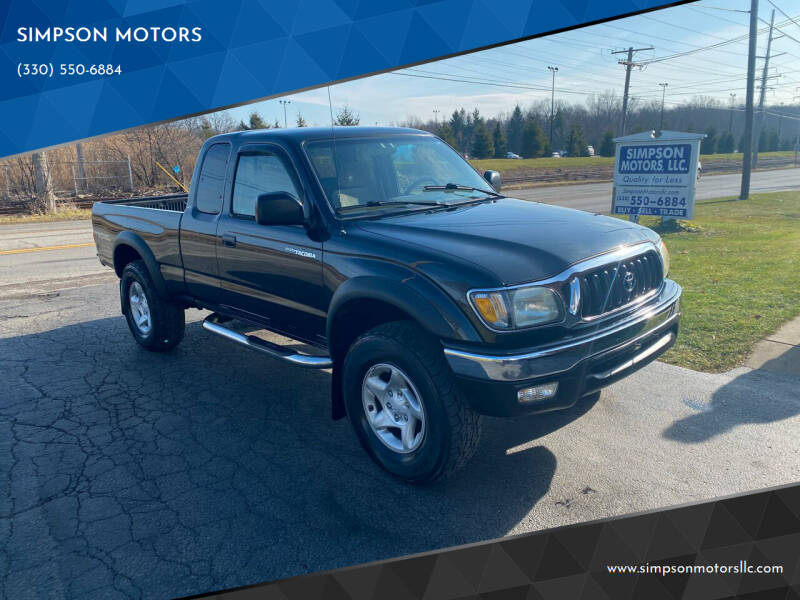 2001 Toyota Tacoma for sale at SIMPSON MOTORS in Youngstown OH