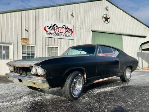 1968 Chevrolet Chevelle Malibu for sale at 500 CLASSIC AUTO SALES in Knightstown IN