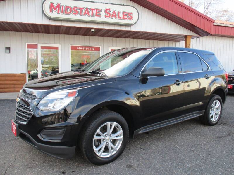 2017 Chevrolet Equinox for sale at Midstate Sales in Foley MN