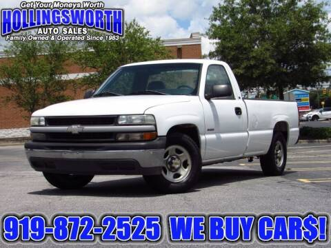 2000 Chevrolet Silverado 1500 for sale at Hollingsworth Auto Sales in Raleigh NC