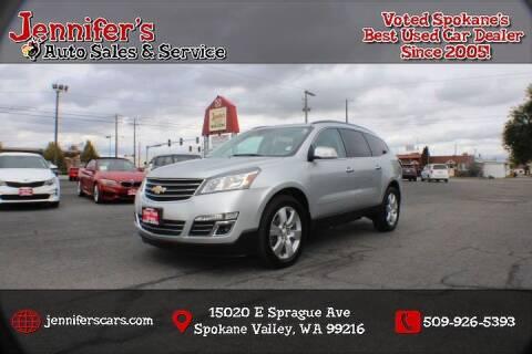 2015 Chevrolet Traverse for sale at Jennifer's Auto Sales in Spokane Valley WA
