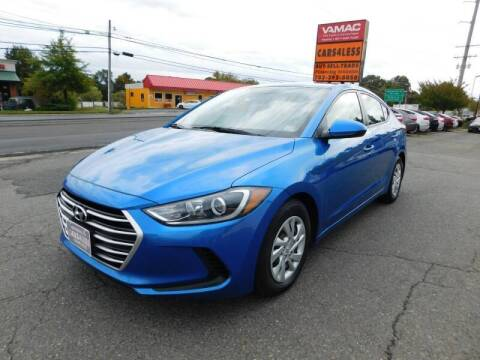 2017 Hyundai Elantra for sale at Cars 4 Less in Manassas VA
