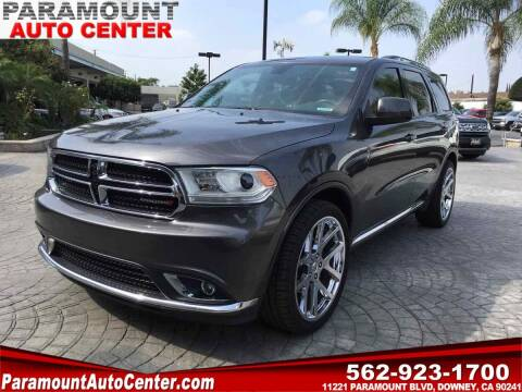 2017 Dodge Durango for sale at PARAMOUNT AUTO CENTER in Downey CA