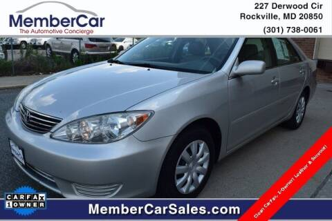 2005 Toyota Camry for sale at MemberCar in Rockville MD