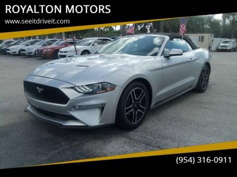 2018 Ford Mustang for sale at ROYALTON MOTORS in Plantation FL