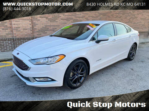 2018 Ford Fusion Hybrid for sale at Quick Stop Motors in Kansas City MO