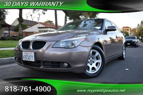 2004 BMW 5 Series for sale at Prestige Auto Sports Inc in North Hollywood CA
