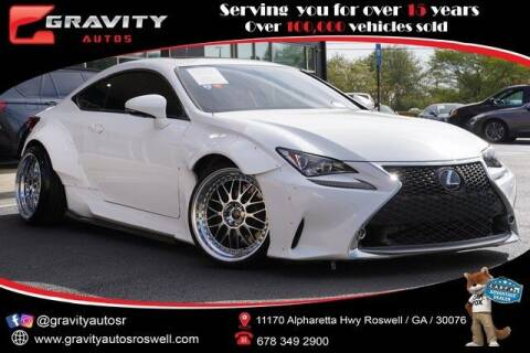 2016 Lexus RC 350 for sale at Gravity Autos Roswell in Roswell GA