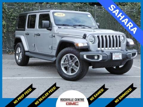 2018 Jeep Wrangler Unlimited for sale at Rockville Centre GMC in Rockville Centre NY