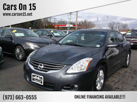 2011 Nissan Altima for sale at Cars On 15 in Lake Hopatcong NJ