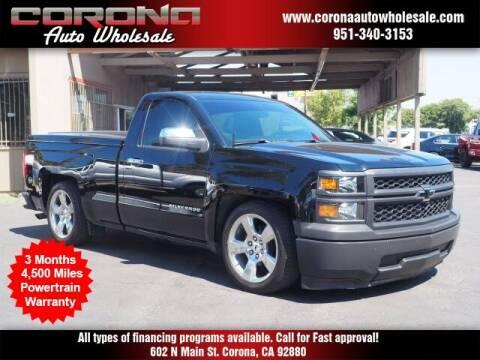 2014 Chevrolet Silverado 1500 for sale at Corona Auto Wholesale in Corona CA