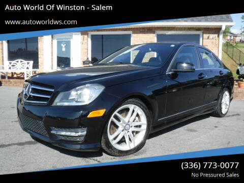 2014 Mercedes-Benz C-Class for sale at Auto World Of Winston - Salem in Winston Salem NC