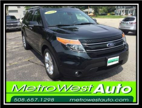 2014 Ford Explorer for sale at Metro West Auto in Bellingham MA