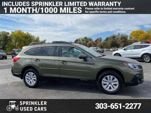2018 Subaru Outback for sale at Sprinkler Used Cars in Longmont CO