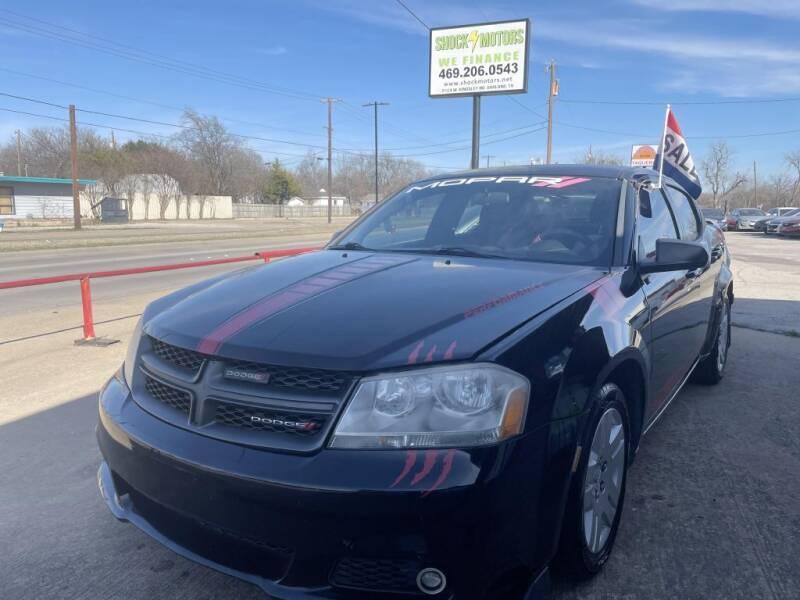 2014 Dodge Avenger for sale at Shock Motors in Garland TX