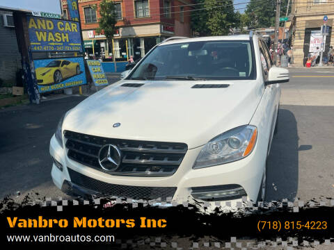 2013 Mercedes-Benz M-Class for sale at Vanbro Motors Inc in Staten Island NY