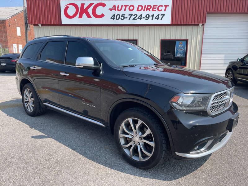 2016 Dodge Durango for sale at OKC Auto Direct in Oklahoma City OK