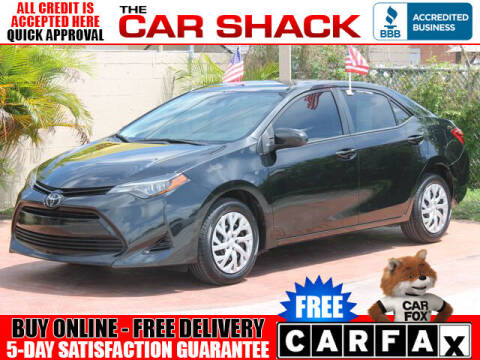 2018 Toyota Corolla for sale at The Car Shack in Hialeah FL