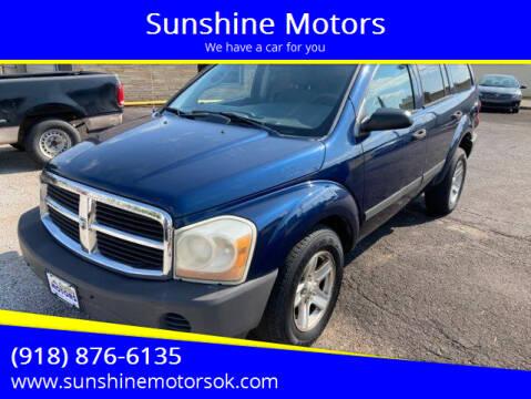 2006 Dodge Durango for sale at Sunshine Motors in Bartlesville OK