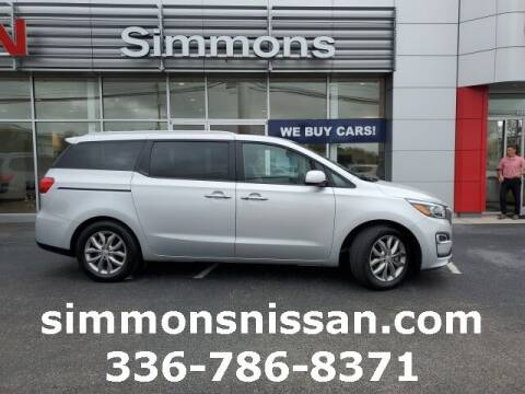 2020 Kia Sedona for sale at SIMMONS NISSAN INC in Mount Airy NC
