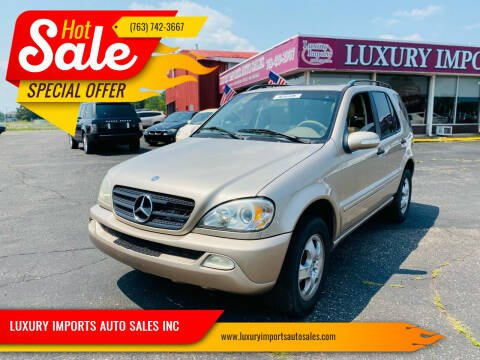 2003 Mercedes-Benz M-Class for sale at LUXURY IMPORTS AUTO SALES INC in North Branch MN