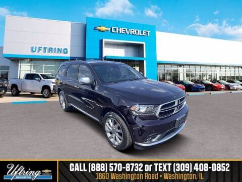 2019 Dodge Durango for sale at Gary Uftring's Used Car Outlet in Washington IL