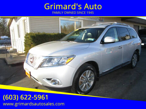 2013 Nissan Pathfinder for sale at Grimard's Auto in Hooksett, NH