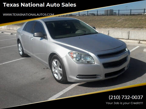 2011 Chevrolet Malibu for sale at Texas National Auto Sales in San Antonio TX