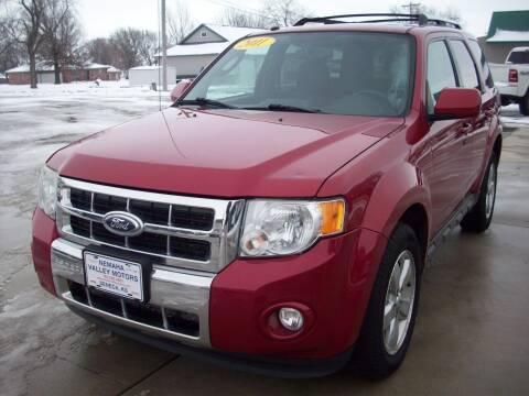 2011 Ford Escape for sale at Nemaha Valley Motors in Seneca KS