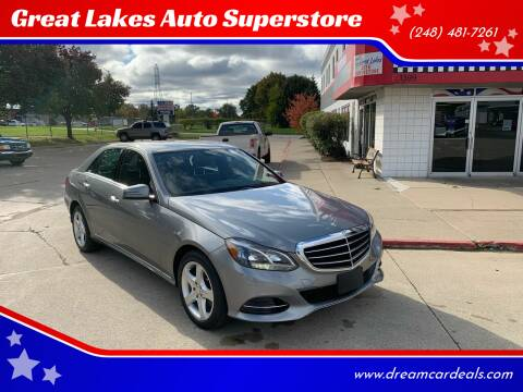 2016 Mercedes-Benz E-Class for sale at Great Lakes Auto Superstore in Pontiac MI
