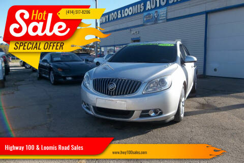 2013 Buick Verano for sale at Highway 100 & Loomis Road Sales in Franklin WI